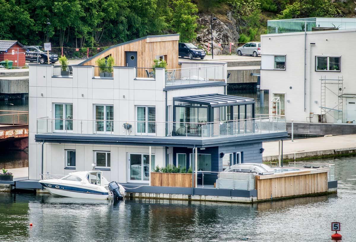 Ekskluzywna łódź mieszkalna